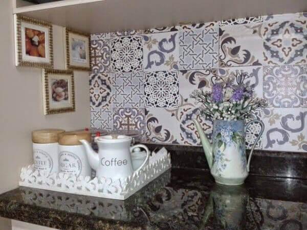 Cantinho do café com decoração especial