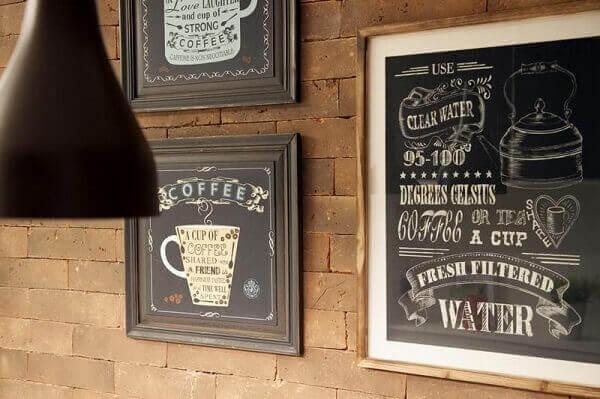 Cantinho do café quadro para decoração