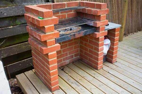 Como fazer churrasqueira simples de tijolo