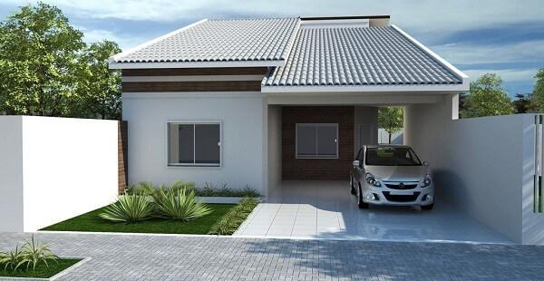 Construção de casas fachada