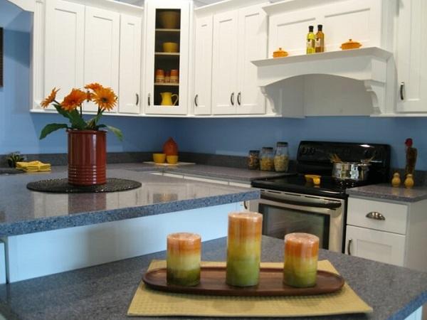 Cores para cozinha com tinta azul