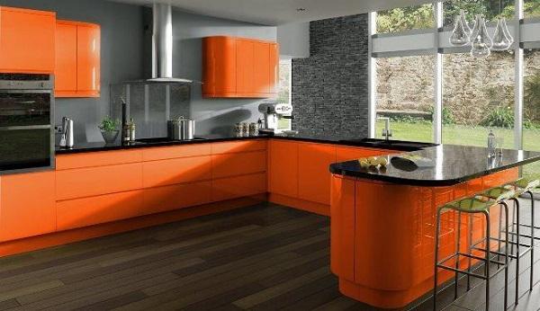Cores para cozinha cor laranja