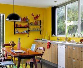 Cores para cozinha em amarelo