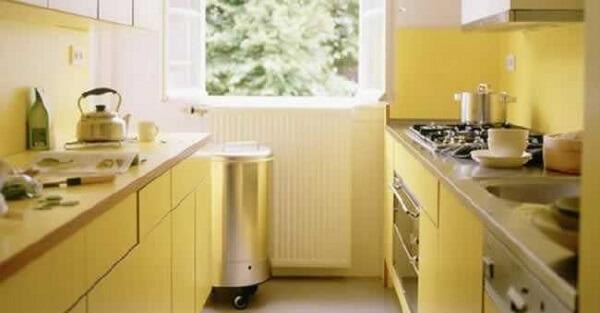 Cores para cozinha em amarelo claro