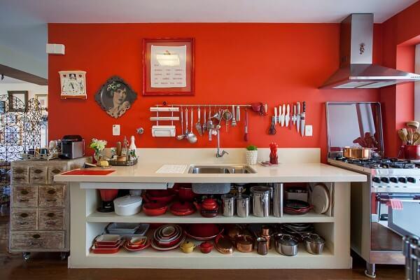Cores para cozinha em vermelho