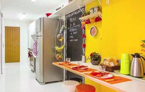 Cores para cozinha na cor amarela