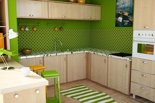 Cores para cozinha na cor verde