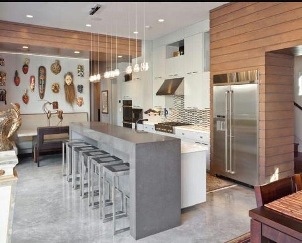 Cores para cozinha piso de concreto
