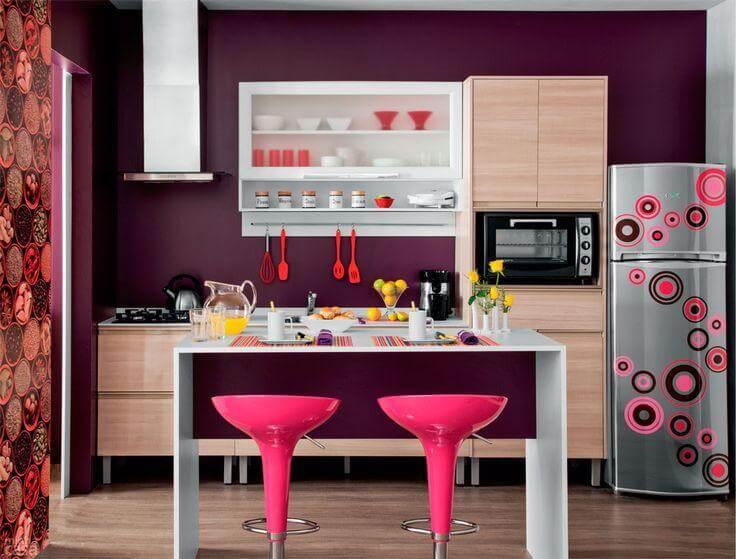 Cores para cozinha roxo