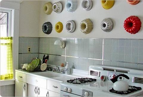 Enfeites para cozinha com formas na parede