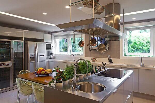 Enfeites para cozinha com ilha