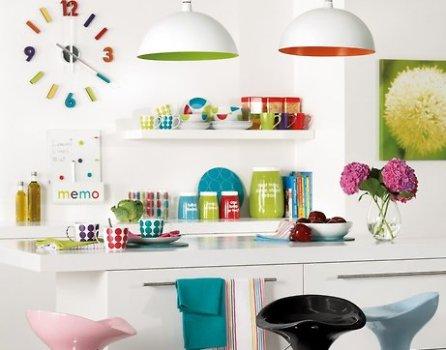 Enfeites para cozinha moderna colorida