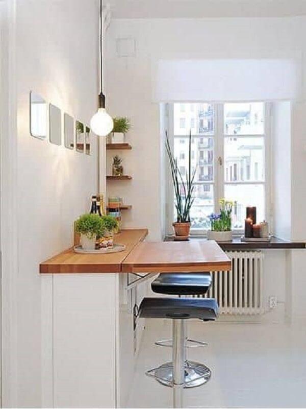 mesa dobrável de madeira para cozinha