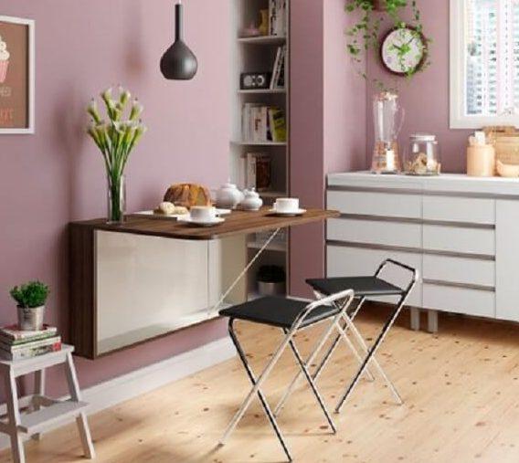 14 – Mesa de cozinha dobrável.