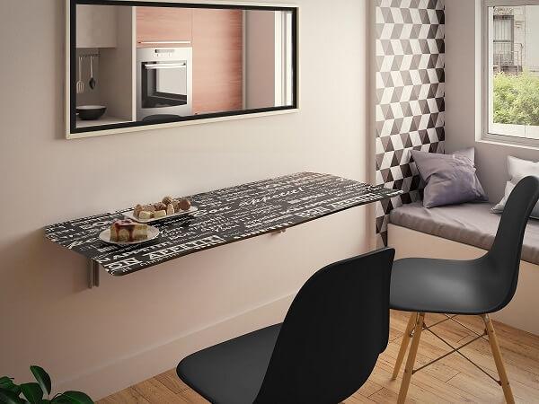 mesa dobrável de parede para sala de jantar