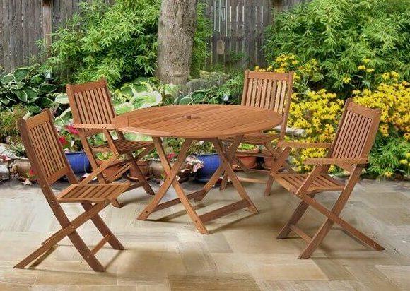 mesa desmontável para área de jardim