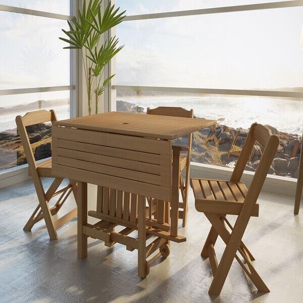 Mesa dobrável para jardim