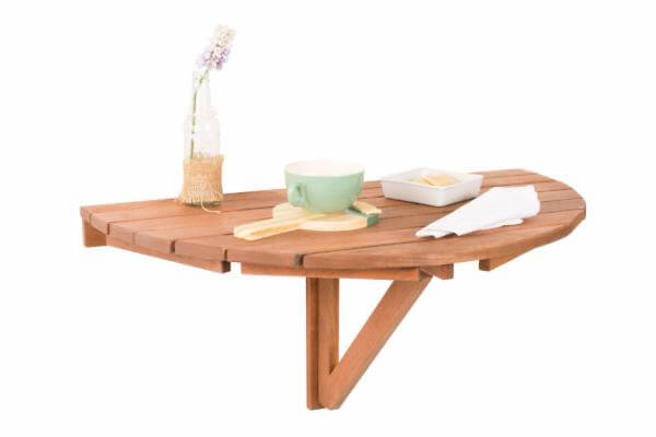 Mesa dobrável redonda de madeira