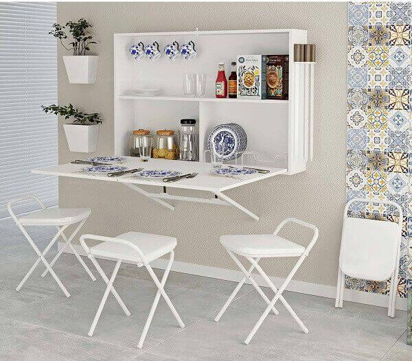 mesa dobrável suspensa para cozinha