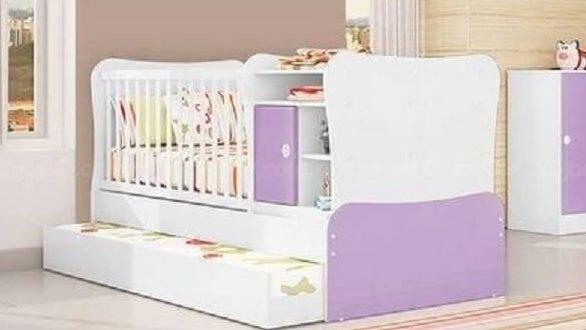 Modelos de berço lilás