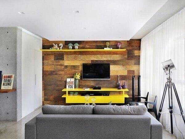Painel para TV com design criativo