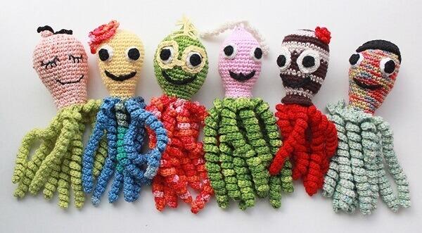 Polvo de crochê coleção