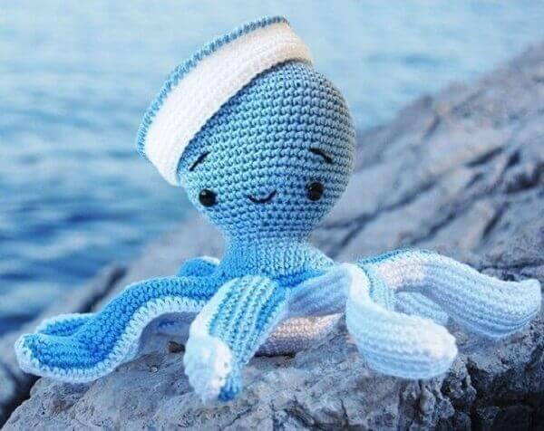 Polvo de crochê marinheiro