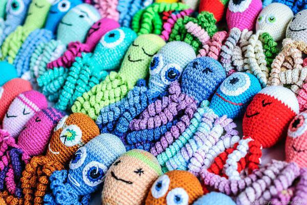 Polvo de crochê variedades coloridas