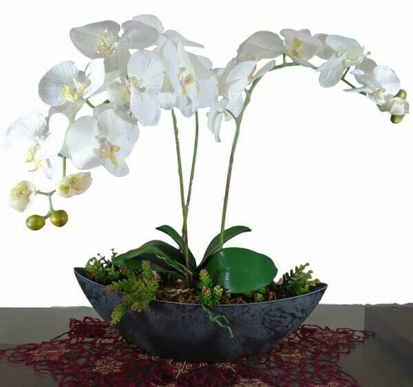 Vasos de plantas artificiais