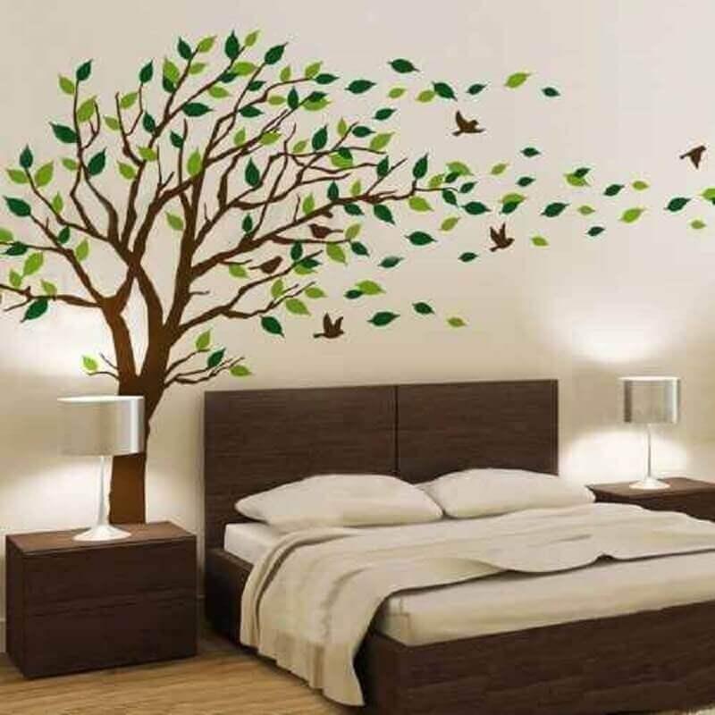adesivo de árvore para decoração de parede