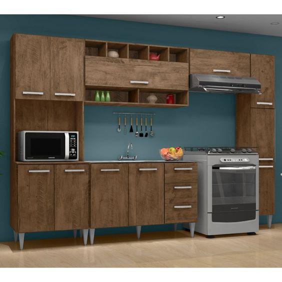 Armário de cozinha modulado em mdf