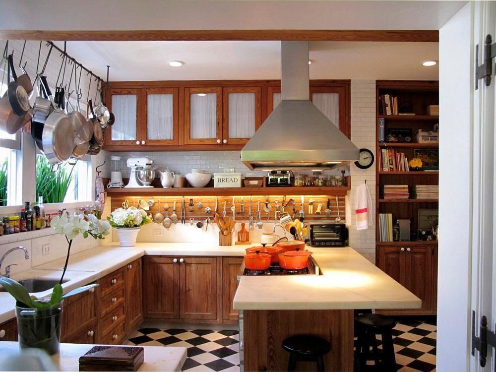 armários de cozinha de madeira