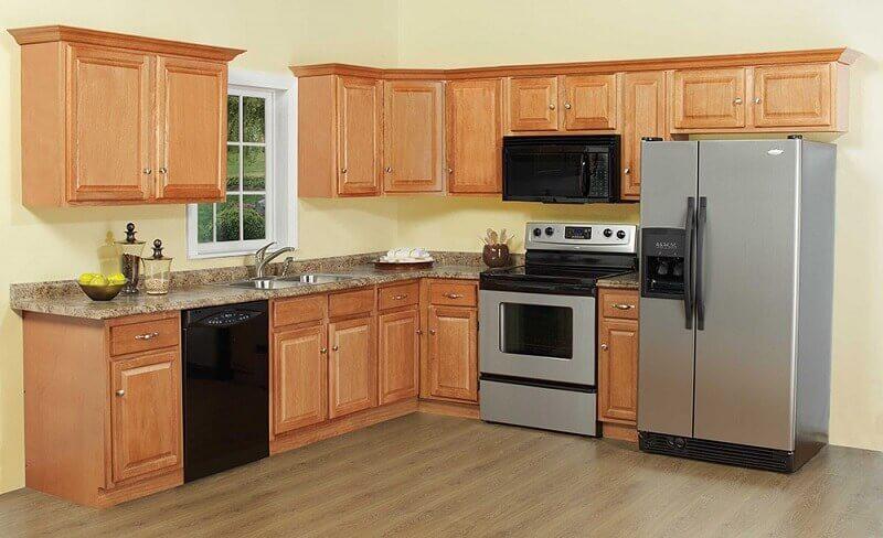 armários de cozinha modulado de madeira