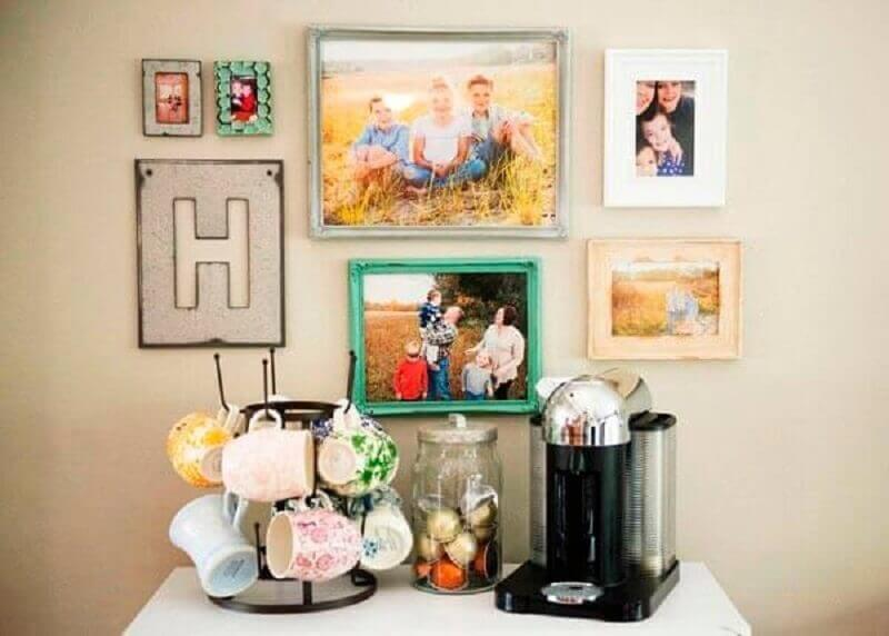 cantinho do café simples decorado com fotos Foto Pinterest