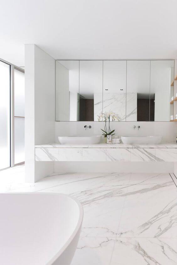 Cerâmica para banheiro com mármore