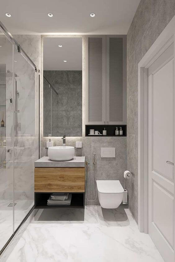Cerâmica para banheiro clean