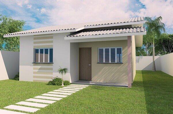 construção de casas com jardim pequeno