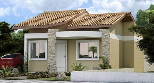 construção de casas com telhas de barro