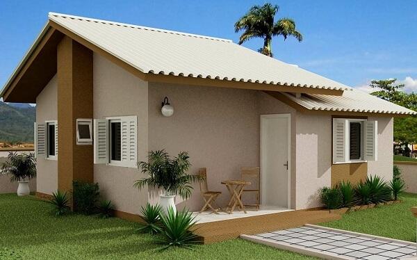 construção de casas com telhas de fibrocimento