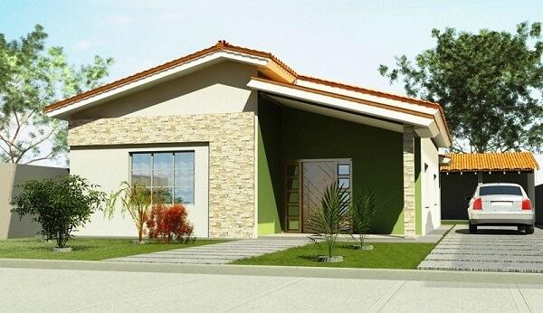 construção de casas com varanda simples