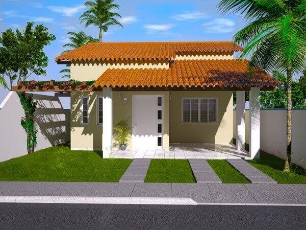 construção de casas com varanda