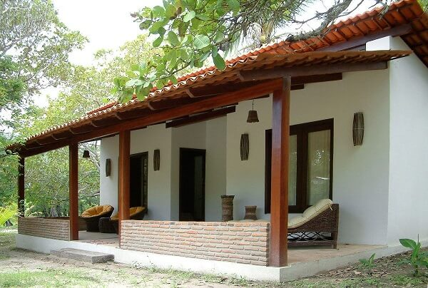 construção de casas simples de campo