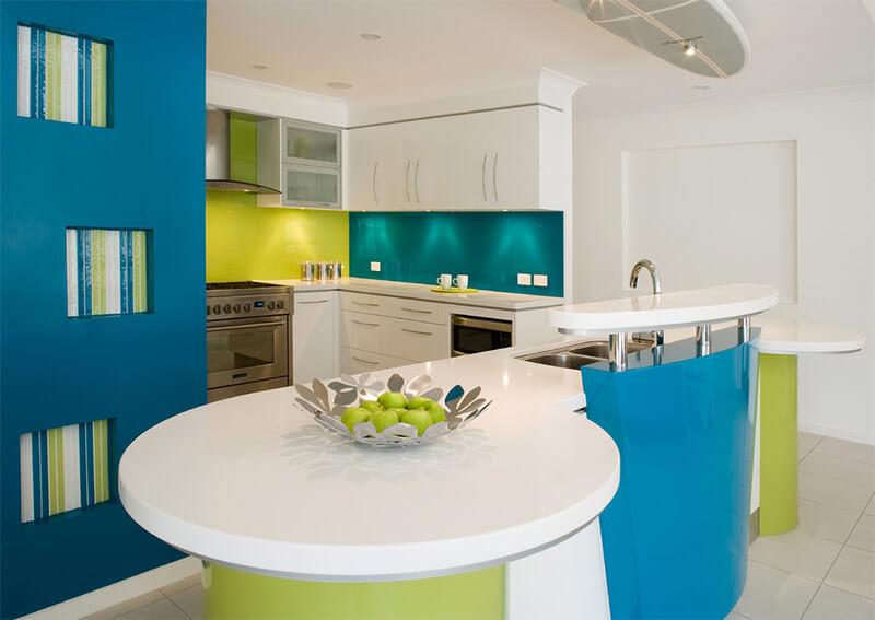 cores para cozinha ambiente colorido