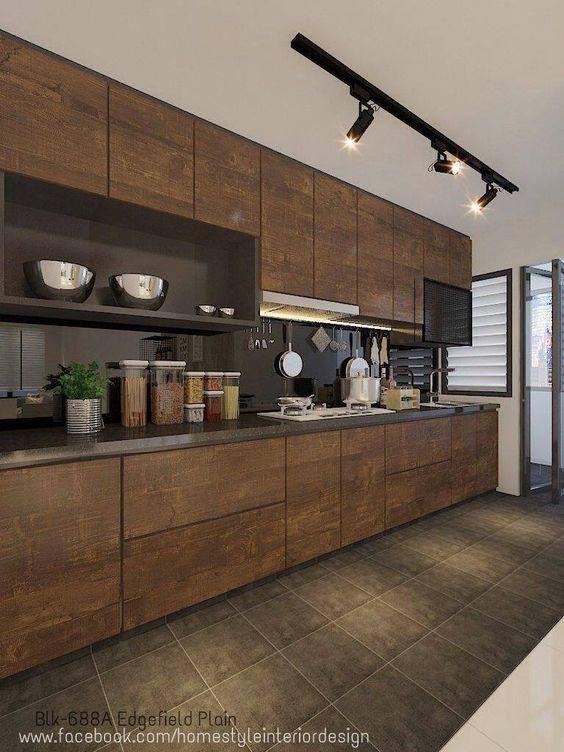 Cores para cozinha marrom