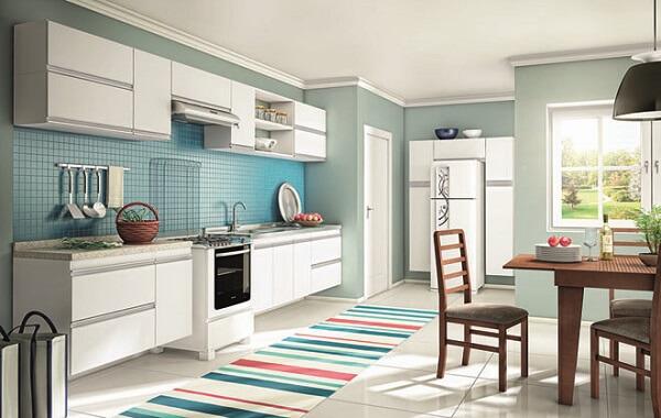 cores para cozinha verde claro