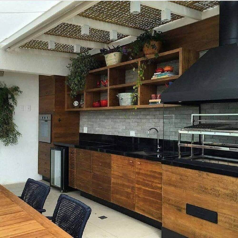 cozinha com granito preto absoluto