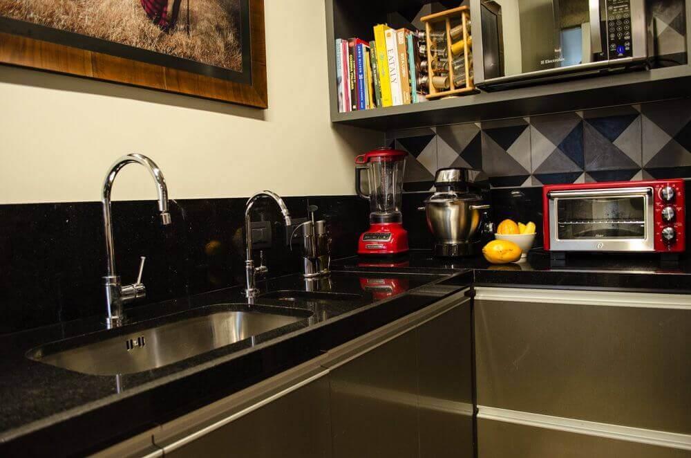 cozinha com granito preto são Gabriel