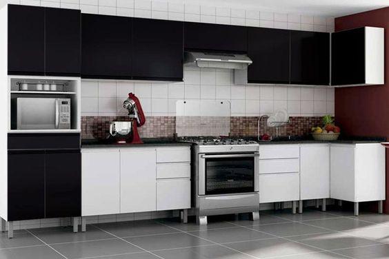 Os armários da cozinha modulada também podem ser lindos