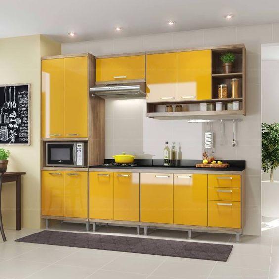 Use a cozinha modulada amarela para sua cozinha ser ainda mais bonita