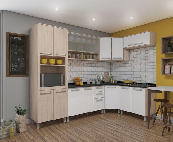 Use a cozinha modulada para aproveitar todos os ambientes da casa
